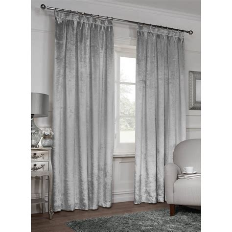 versailles crushed velvet fully lined curtains
