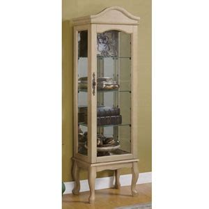 antique white curio cabinet curio cabinets oak or antique white curio cabinet 95019