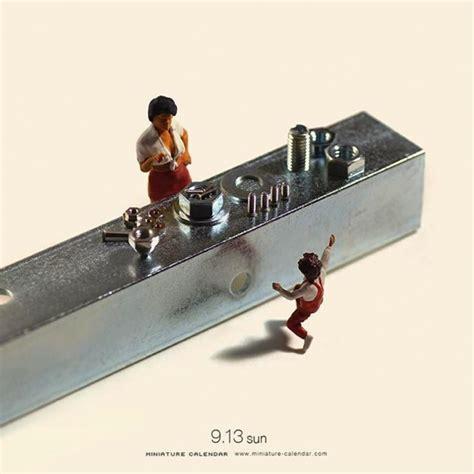 tatsuya tanaka creates  mini diorama  ordinary scenes everyday design indaba