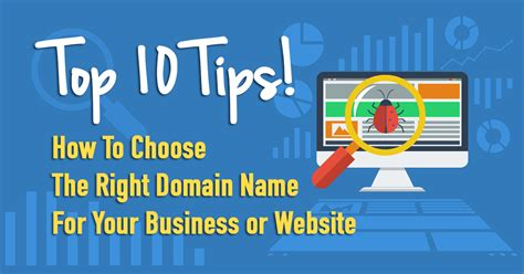 how to pick a name for your business top 10 tips on how to choose the right domain name