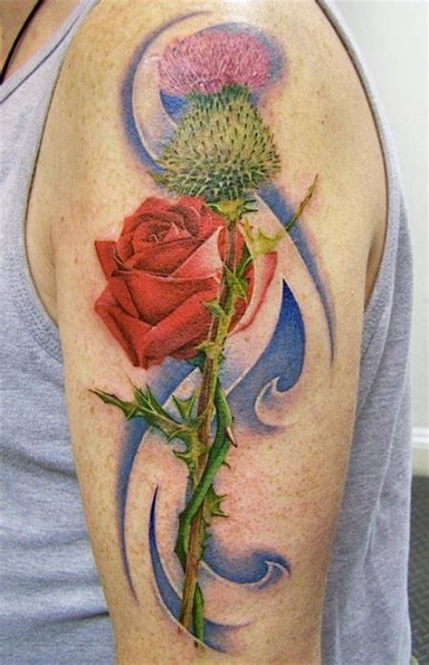 rose and thistle tattoo designs venetian gathering david corden tattoos page 2