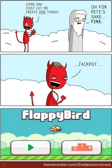 Flappy Bird Meme - flappy bird a game made by satan himself by