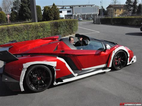 How Much Is The Lamborghini Veneno Roadster Spotted Lamborghini Veneno Roadster Outside Factory Premises
