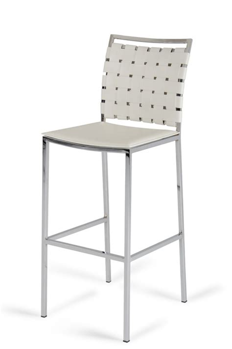 t1048 eco leather white contemporary bar stool shasta modern white eco leather bar stool set of 2