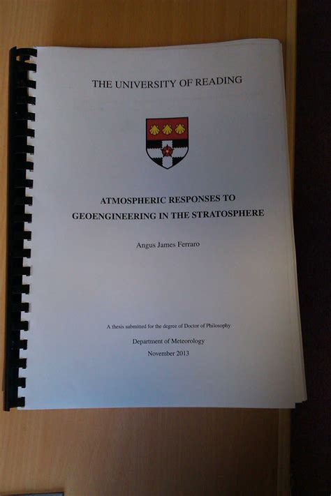 writing the doctoral dissertation thesis angus ferraro