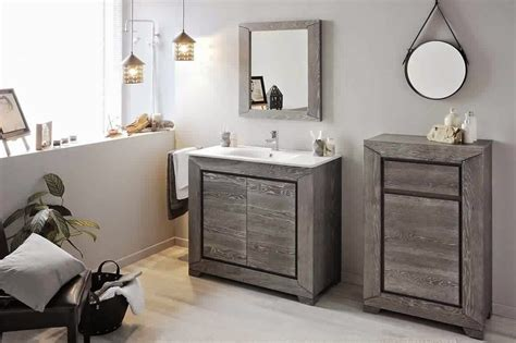 meuble cuisine pour salle de bain salle de bain anthracite et bois great colonne salle bain
