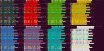 bash color codes vim colors from ansi escape sequences how to display in