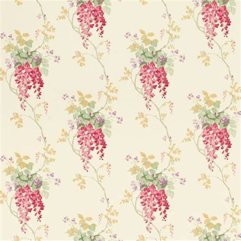Lurçat Tapisserie by Wisteria Cranberry Floral Wallpaper Eye