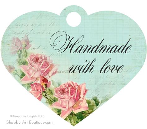 printable tags for handmade items free printable handmade tags shabby art boutique