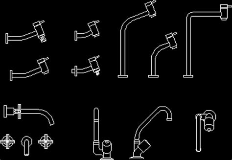 Faucet Cad by Faucets In Autocad Drawing Bibliocad