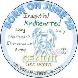 june 20 birthday horoscope personality sun signs