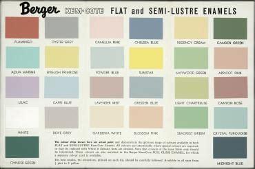 paint colour chart berger kem cote paint