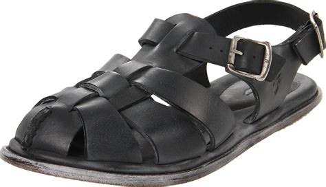mens fisherman sandals sale frye frye mens lawson fisherman sandal in black for lyst