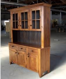 5ft reclaimed barn wood hutch with 3 door glass top farmhouse china cabinets and hutches