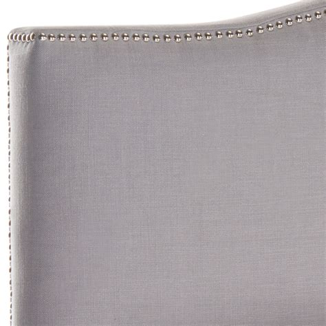 arctic upholstery jeneve arctic grey winged headboard headboards furniture