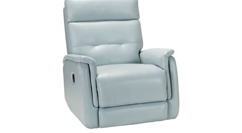 light blue leather recliner adelino aqua light blue leather recliner contemporary