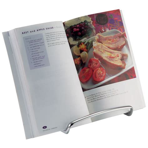 Cookbook Stands For Kitchen by Axis Chrome Cookbook Holder In Cookbook Holders And Stands