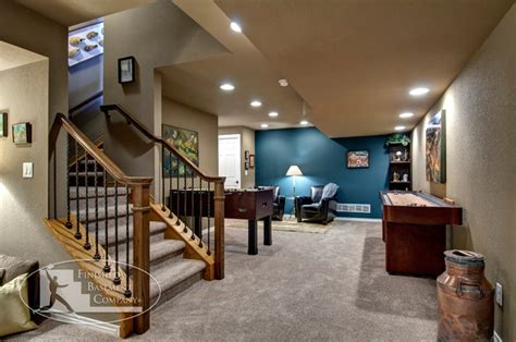 basement stairs game tables traditional basement