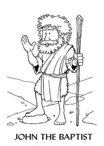 john the baptist coloring pages john the baptist colouring pages