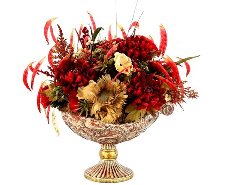 silk flower arrangements for dining room table hand crafted dining table centerpiece silk flower