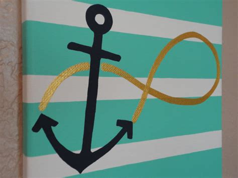Hand Painted Love Anchors The - items similar to hand painted infinity anchor canvas