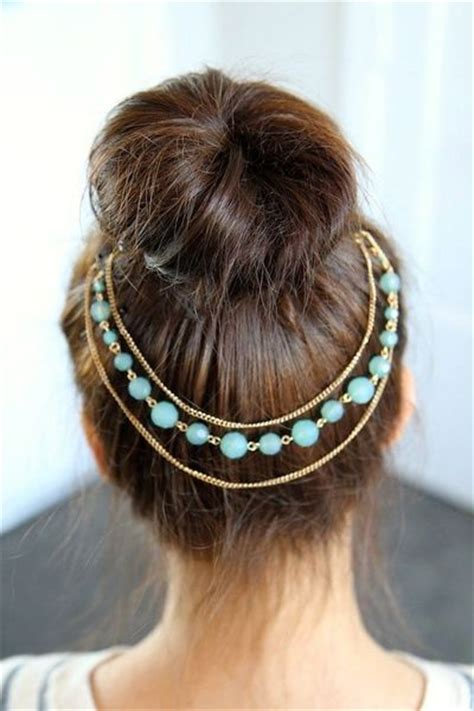 prom hairstyles with hewels teased high bun hair jewelry updo hairstyles prom