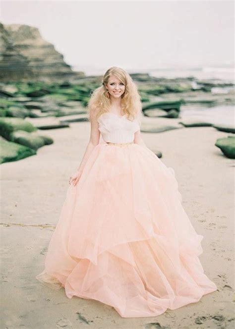 hochzeitskleid in rosa brautkleid in rosa und wei 223 frauenmode pinterest
