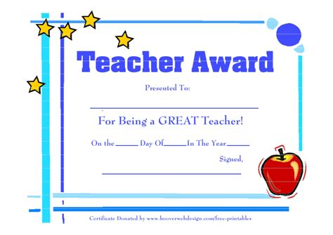 free certificate templates for teachers free printable best certificates
