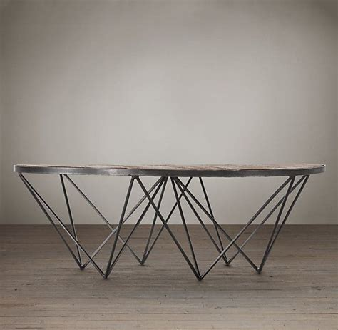 restoration hardware round coffee table pin by cindy hattersley design rough luxe lifestyle blog