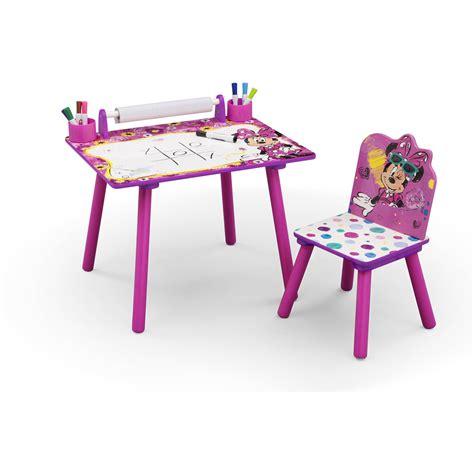 Kids Art Desk Chair Play Drawing Disney Minnie Mouse Activity Desks