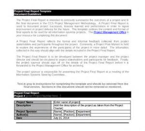 project reports templates 18 project report template free sle exle format