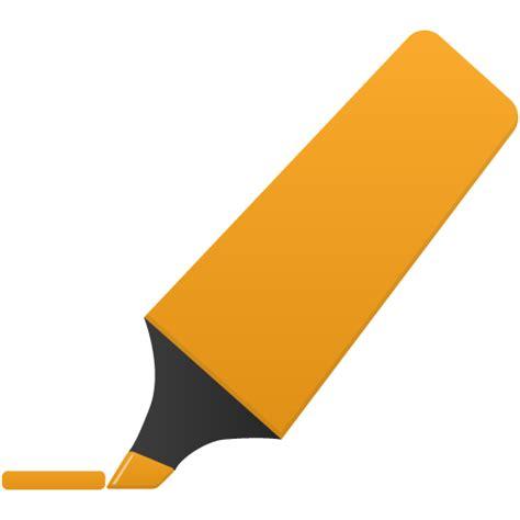design icon orange highlightmarker orange icon flatastic 7 iconset custom