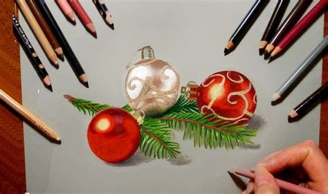 drawings of ornaments colored pencil drawing tree decorations