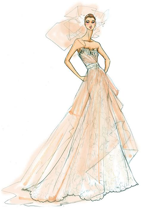 fashion illustration dress fashion sketches new fashion sketches