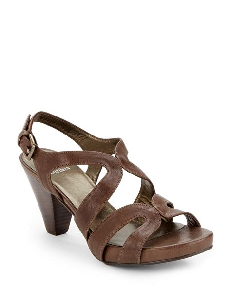 strappy brown sandals stuart weitzman swingband strappy leather sandals in brown