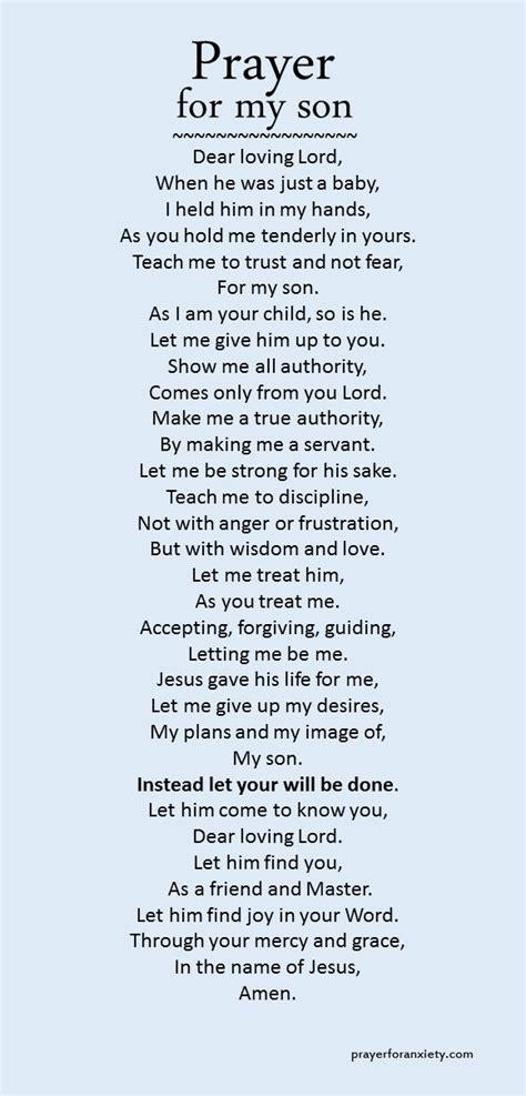 prayer   son prayer  anxiety