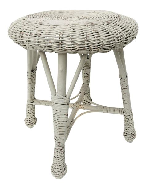 wicker bathroom vanity stool white wicker vanity stool chairish
