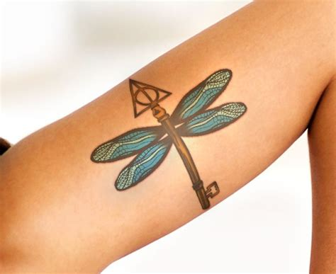 harry potter flying keys tattoos