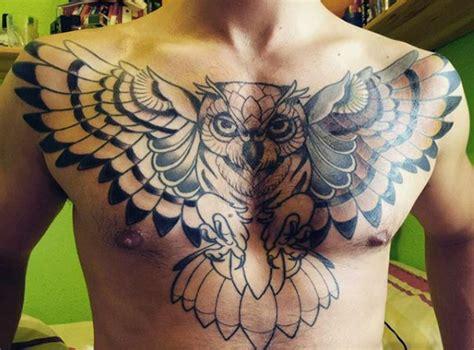 owl tattoo chest design owl tattoo for men on chest tattoo pinterest owl
