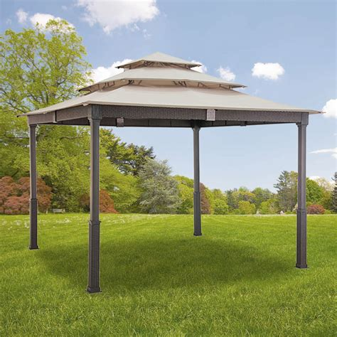 gazebo canopy replacement canopy for 10x10 wicker gazebo