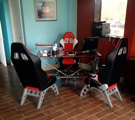 car guy garage 5 piece comfy automotive office furniture