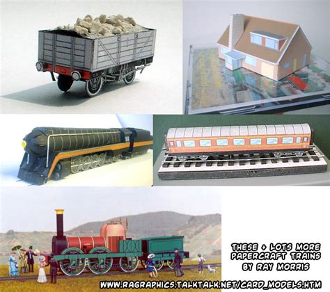 Papercraft Trains - ninjatoes papercraft weblog papercraft trains more