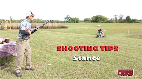 for better wing clay shooting stance