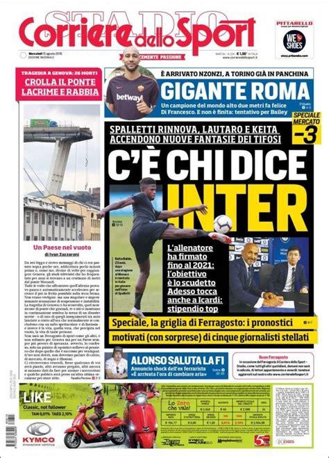 corriere dello s newspaper corriere dello sport italy newspapers in