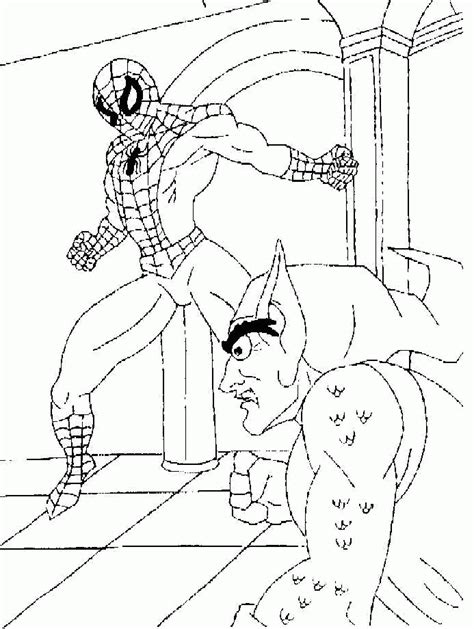 Spiderman Green Goblin Coloring Pages Coloring Home Foto Green Goblin Coloring