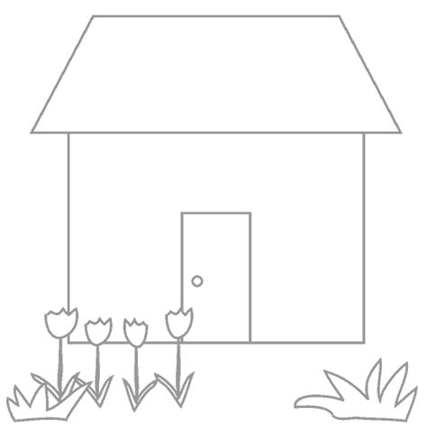 how to color a house ぬりえ 家1 白黒