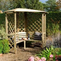 Garden Arbor Manufacturers Chiltern Wooden Corner Arbour With Assembly Service