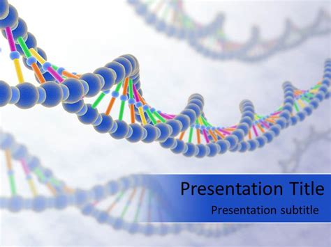 dna strand powerpoint templates and backgrounds