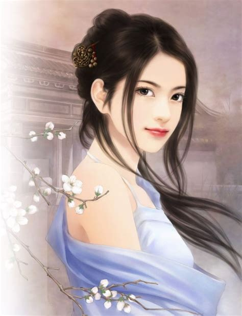 New Chinese Girls Painting | chinese girl paintings best profile pics