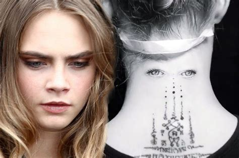 cara delevingne tattoo cara delevingne shocks fans as she shows